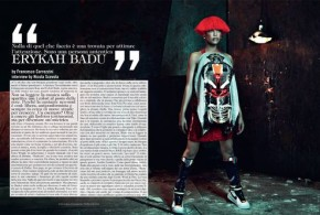 THE MUSE: NEO-SOUL SINGER ERYKAH BADU IN GIVENCHY FOR VOGUE ITALIA