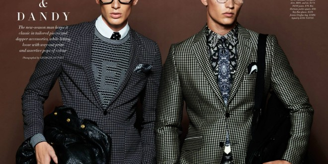 FINE AND DANDY: MODELS NATHANIEL VISSER AND ALEXANDER HOAD FOR HARPER'S BAZAAR MAN AUSTRALIA