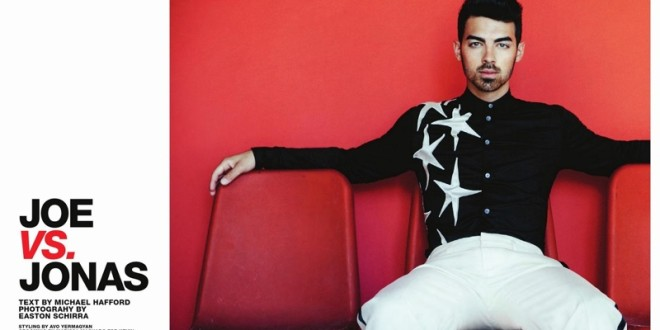 JOE VS JONAS: JOE JONAS STRIKES A POSE FOR SCENE MAGAZINE