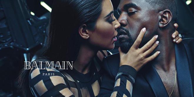 Mr. & Mrs. West: Kanye West & Kim Kardashian Steam Up Balmain 2015 Campaign