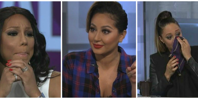 Tearjerker: Adrienne Bailon & Co-Hosts Get Emotional While Revealing Her Music Industry Struggles on 'The Real'