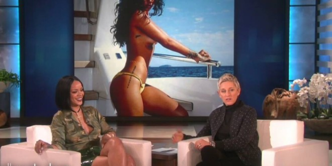 """Watch: Rihanna Talks Drake, Touring, Dating, Plays """"Never Have I Ever"""" at 'Ellen'"""