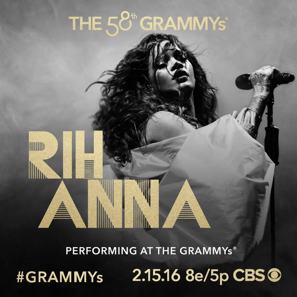 Confirmed: Rihanna To Perform at the 58th GRAMMYs