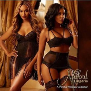 Double Trouble: Cynthia Bailey & Porsha Williams Strip Down For Porsha's 'Go Naked Lingerie' Line [Photos/Videos]