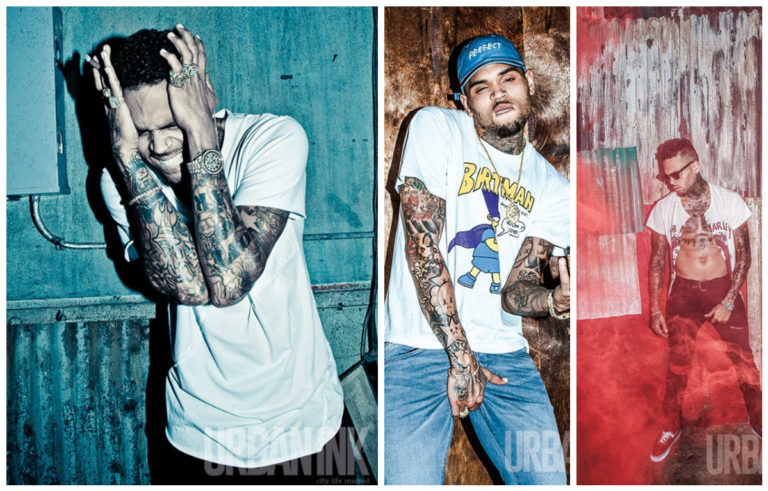 Chris Brown Shows Off His Tats, Talks Music, Royalty, Not Wanting To Be a Role Model For 'Urban Ink' Magazine