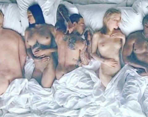 "Chris Brown Issues Funny Response To Having His Cakes All Out In Kanye West ""Famous"" Video"