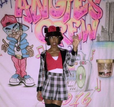 Rolling with The Homies: Kelly Rowland Channels Stacey Dash's Character In 'Clueless' Inspired Halloween Costume [Photos]