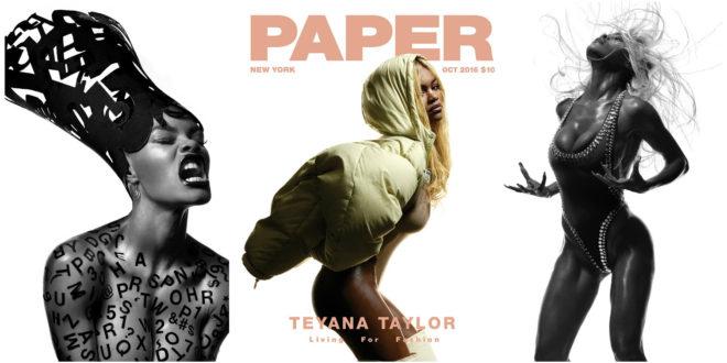 Teyana Taylor Gives Us Slight Grace Jones Homage, Slays Entire 'Paper' Magazine Cover & Spread [Video/Photos]