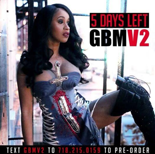 Cardi B Mixtape: Cardi B Readies New EP 'GBMV2' & Unveils Cover, Snippet