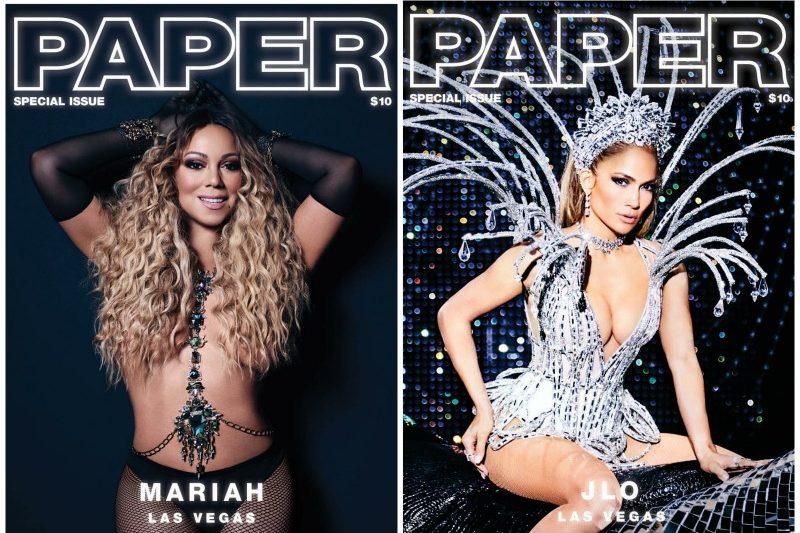 Mariah Carey & Jennifer Lopez BOTH Grace Paper Magazine For STUNNING 'Las Vegas' Edition Joint Cover [Photos]