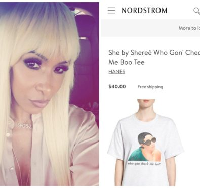 """Sheree Whitfield Lands Nordstrom Deal To Sell """"Who Gon Check Me Boo"""" Tees [Photos]"""
