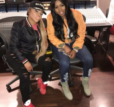 """Ladies Night: Lil Kim & Remy Ma Hit Studio Together, Tease New Collaboration """"We Just Made History"""" [Photos]"""